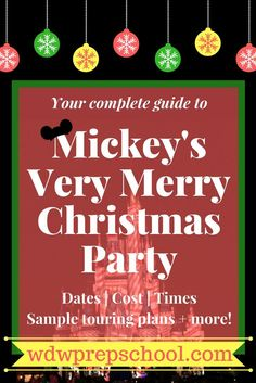 2019 Mickey's Very Merry Christmas Party (map, best dates, touring – OMG – WTF Disney Christmas Party, Mickeys Christmas Party, Mickey Christmas, Christmas Travel, Disney Holidays, Holiday Travel, Christmas 2019, Christmas Trips, Disney World Planning