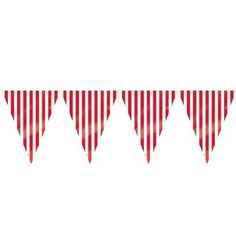12ft Red Striped Pennant Banner