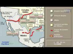 Guerra Mexicano-estadounidense REPRESENTACION ANIMADA EN UN MAPA
