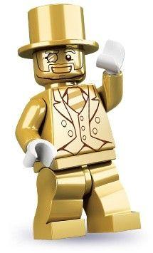 Mr. Gold Lego minifigure