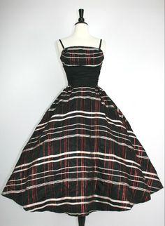 Vintage black white and metallic red