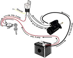 Wolfsburg Wired March, Relay Upgrade for a Starter Motor . If your car has a good battery but still makes a clicking sound instead of starting then Trailer Wiring Diagram, Electrical Troubleshooting, Vw Engine, Vw Parts, Truck Repair, Starter Motor, Diy Electronics, Electric Cars, Automobile
