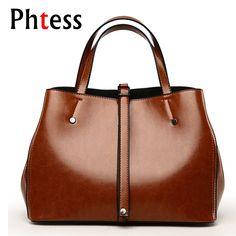 2f3edf0dd6a Women Leather Handbags Luxury Brand Bags 2018 Ladies Bucket Bag Female  Shoulder Bags Hand Sac a