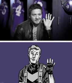 More proof that Jeremy Renner is actually Clint Barton