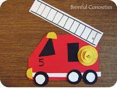 Brimful Curiosities: Firehouse! by Mark Teague - Book Review and Fire Truck Craft
