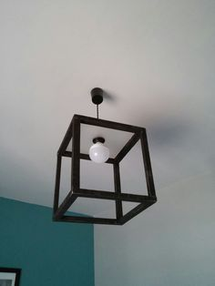 #Wood#cubic#ceiling#lighting#bulb#retro#modern