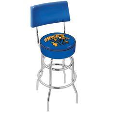 Chrome Kentucky Wildcats Mascot Double-Rung Swivel Back Bar Stool