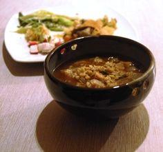 Sopa de blat escairat i verdures d'arrel
