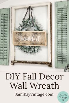 Country Decor For Kitchen. Easy Methods To Spruce Up Your Home's Interior Decoration Shutter Wall Decor, Diy Wall Decor, Diy Home Decor, Wall Decorations, Window Wall Decor, Creative Wall Decor, Rustic Wall Decor, Window Frames, Christmas Decorations
