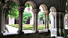 Abbaye Fontfroide cloister galley, #Narbonne, #Aude, #France