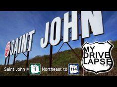 Leaving Saint John: Highway 1 headed Northeast - YouTube