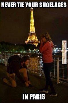 Never tie your shoelaces in Paris