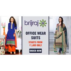 Anarkali Suits- Get an Ethnic Makeover Heavy Embroidered Poly Georgette Anarkali Suits with Chiffon dupittas www.brijraj.com #Brijraj #IndianWear #EthnicWear