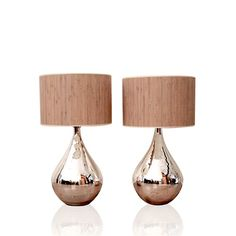 Mercury Lamps With Reed Shades