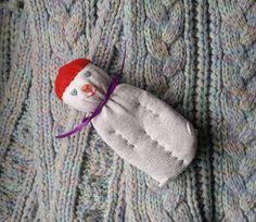 Lavender Filled Sachet Sock Doll Christmas White With by Pedricks