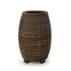 Distinctive Designs Silk Fishtail Palm in an Abaca Rope Woven Basket with Wooden Feet