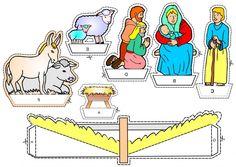Kerst, diorama voor kleuters 2  , kleuteridee,Christmas nativity, christmas diorama, free printable