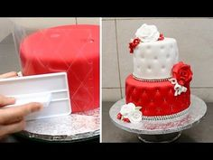 Quilted Cake Decorating Idea by CakesStepbyStep, My Crafts and DIY Projects