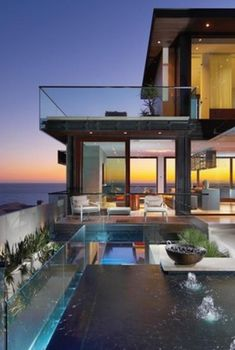 Open concept and great views with floor to ceiling glass.