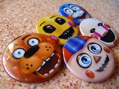 Five Nights at Freddy's 2 Button Set Toy Freddy by GoldenPressure