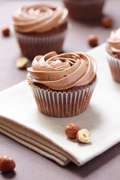 Nutella Cupcakes | Ashley Marie's Kitchen