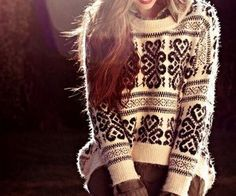 Nordic patterned/oversize sweater...got a very similar one