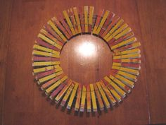 Thanksgiving wreath from clothespins
