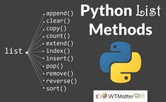 This article lists and describes all of the Python Dictionary methods. Find out the purpose & the usage of each of these methods with the help of examples. Computer Coding For Kids, Learn Computer Science, Computer Basics, Computer Engineering, Computer Technology, Python Programming Books, Computer Programming Languages, Basic Programming, Programming Tutorial