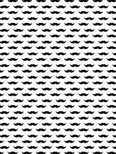 Mustache Pattern - UrbanArts ♥