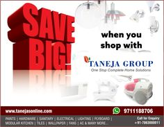 Save Big, when you shop with Taneja Group! Order Now At www.tanejasonline.com