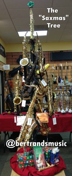 Who wants one? The Saxmas Tree created by our Bertrand's Music Mission Viejo staff. Looks cool.