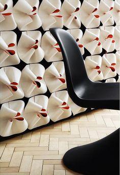 Felt decorative acoustical panels ROSETTE 2TONE | Felt decorative acoustical…