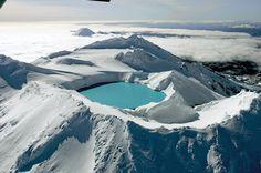Cratera do Vulcão Ruahepu, no Parque Tongariro