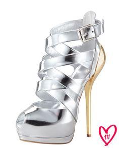 Bergdorf Goodman 111th Anniversary Metallic Strappy Sandal by Giuseppe Zanotti
