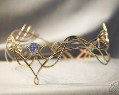 Elfen Silber und Golden Tiara von FairyCaveShop auf Etsy