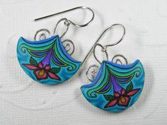Spring Flower Millefiori Cane Dangle Earrings. $39.00, via Etsy.