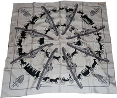 "Paris Qui Roule (from <a href=""http://piwigo.hermesscarf.com/picture?/869/category/151-white_cream"">HSCI Hermes Scarf Photo Catalogue</a>)"