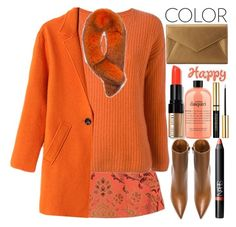 """Orange"" by grozdana-v ❤ liked on Polyvore featuring Alice + Olivia, PHILO-SOFIE, Andrew Marc, Bobbi Brown Cosmetics, Givenchy, Neiman Marcus, philosophy and NARS Cosmetics"