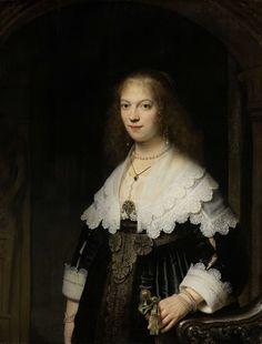 Portret van een vrouw, mogelijk Maria Trip, Rembrandt Harmensz. van Rijn, 1639
