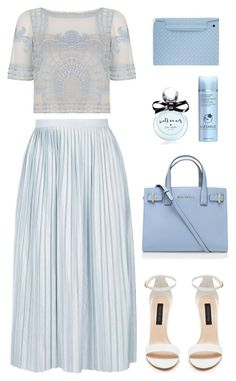 """Clouds"" by heba-j ❤ liked on Polyvore featuring Temperley London, Topshop, Kurt Geiger, Kate Spade, Liz Earle and Bottega Veneta"