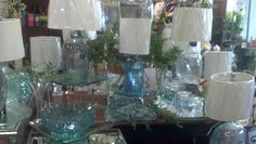 Annie glass and new lamps