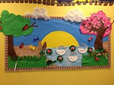 Super cute Spring bulletin board and craft ideas!