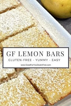 Gluten-Free Lemon Bars Recipe - #goodforyouglutenfree
