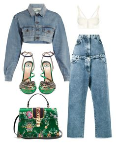 """Untitled #2795"" by christabell-cxlvi ❤ liked on Polyvore featuring Off-White, Natasha Zinko, Balenciaga and Gucci"