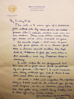 my darling wifelove letter from ronald regan so sweet