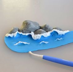 CAKEroom.pl - rocky beach waves tutorial