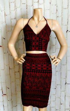 Carson's Fashion High Waist Skirt with Halter Top Waist Skirt, High Waisted Skirt, Two Piece Skirt Set, Skirts, Tops, Dresses, Fashion, Vestidos, Moda