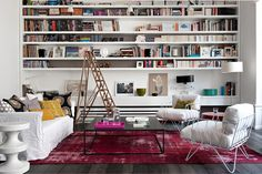 Gorgeos Eclectic Modern Apartment in Paris. #livingroom