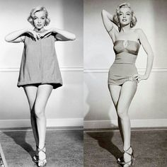 """Marilyn Monroe in a costume test for """"How to Marry A Millionaire"""" (1953). #marilynmonroe #htmam #1953"""