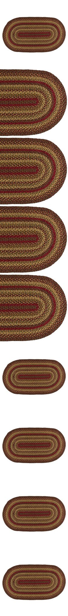 ihf home decor country style oval area floor carpet 20 x 30 braided rug